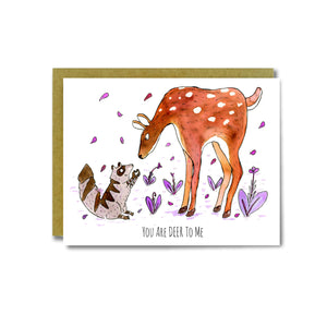 You Are Deer Card