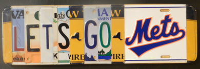 Lets Go Mets License Plate Sign
