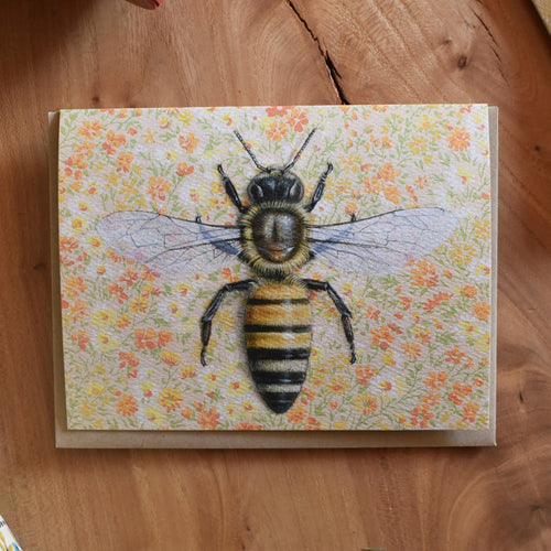 *Notecard - Honeybee on Yellow