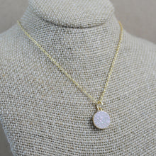 Druzy Pendant - gold-filled