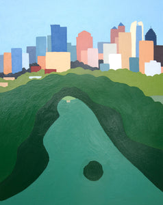 Piedmont Park 2020 Atlanta Print with white mat