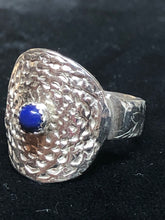 Lapis Lazuli Dimple Sterling Silver Ring