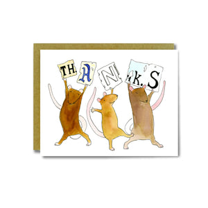 Thanks Rats Card