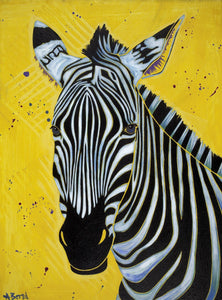 """Zebra I"" - African Animal Matted Print"