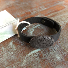 Lava Diffuser Bracelet - Black Leather - Offerings
