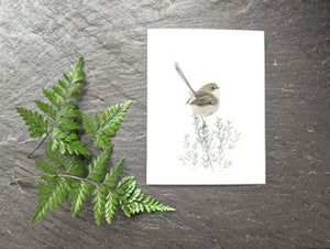 Brown Fat Bird Greeting Card
