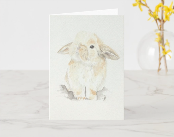Bunny Greeting Card