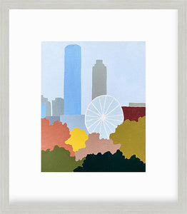 Centennial Olympic Park Atlanta Print with white mat