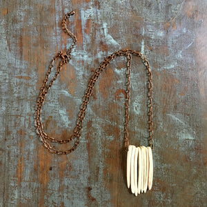 Coconut Sticks Diffuser Necklace - Long