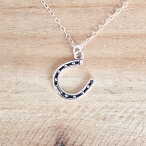 Horseshoe Necklace - Sterling Silver