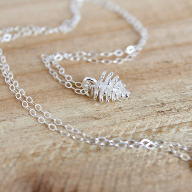 Pinecone Necklace - Sterling Silver