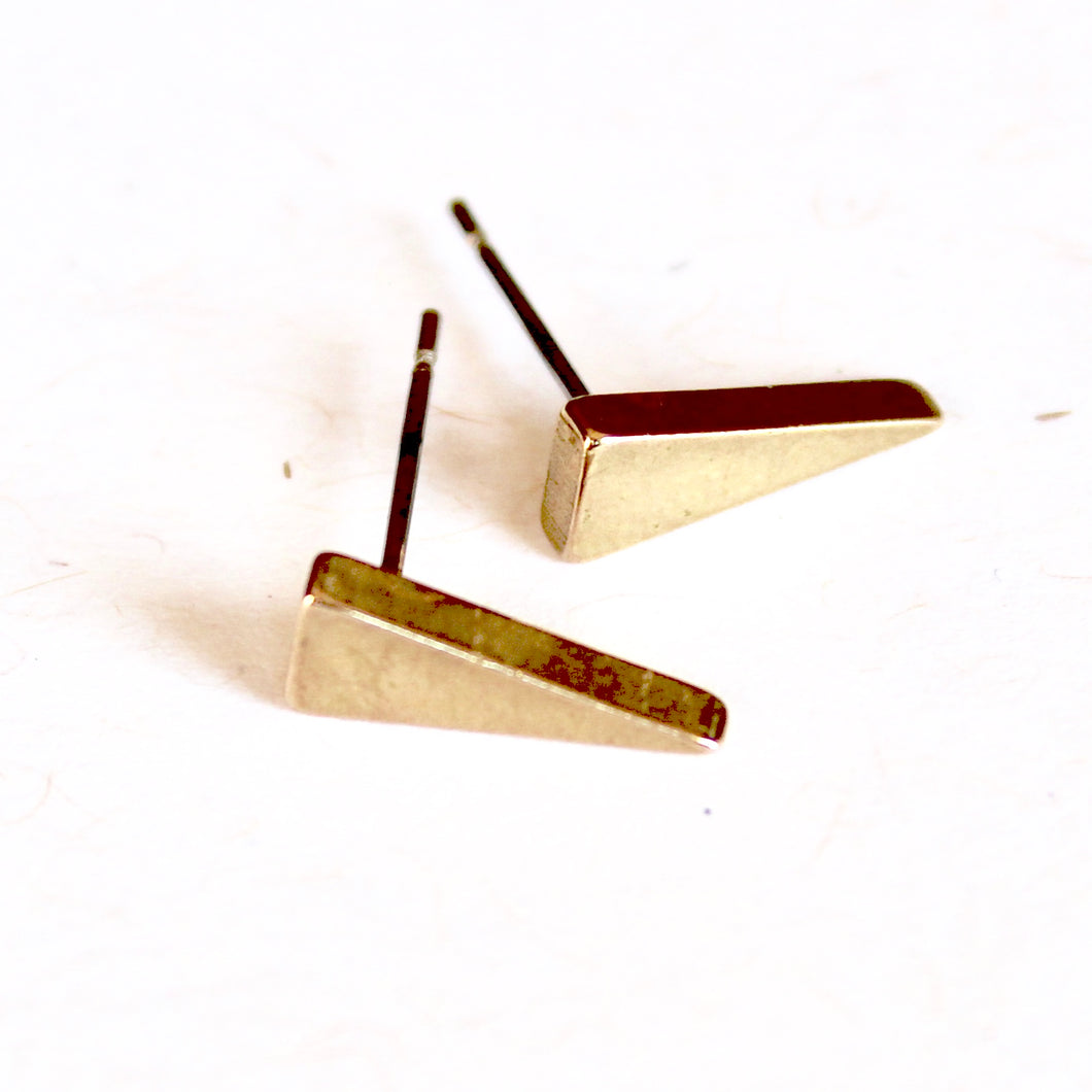 Brass Long Spike Earrings