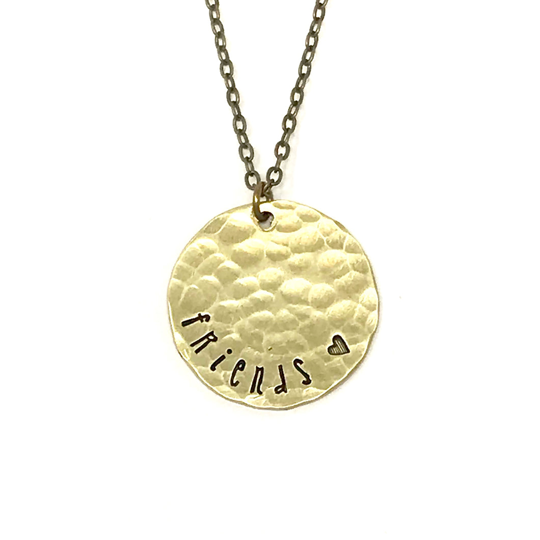 'Friends' Hammered Necklace