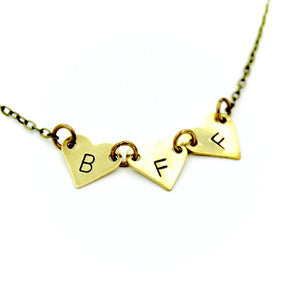 'BFF' Hearts Necklace