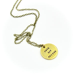 'Cute But Psycho' Necklace