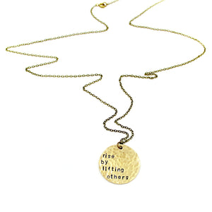 'Rise By Lifting Others' Necklace