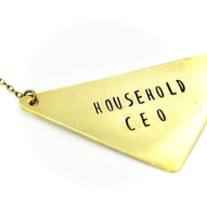 'Household CEO' Necklace