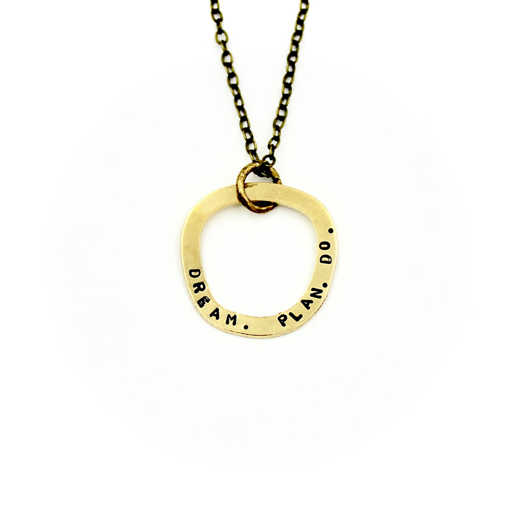 'Dream. Plan. Do.' Necklace