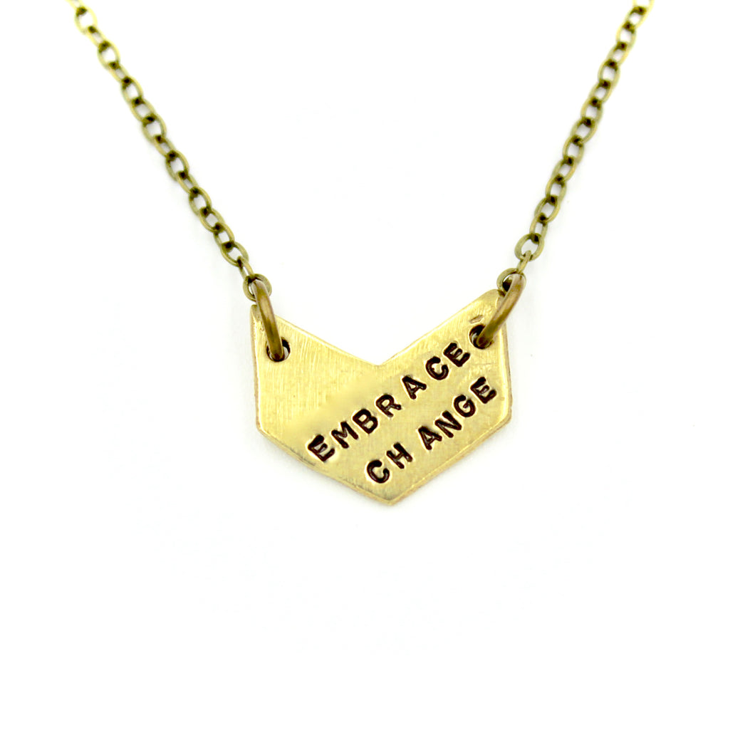 'Embrace Change' Necklace