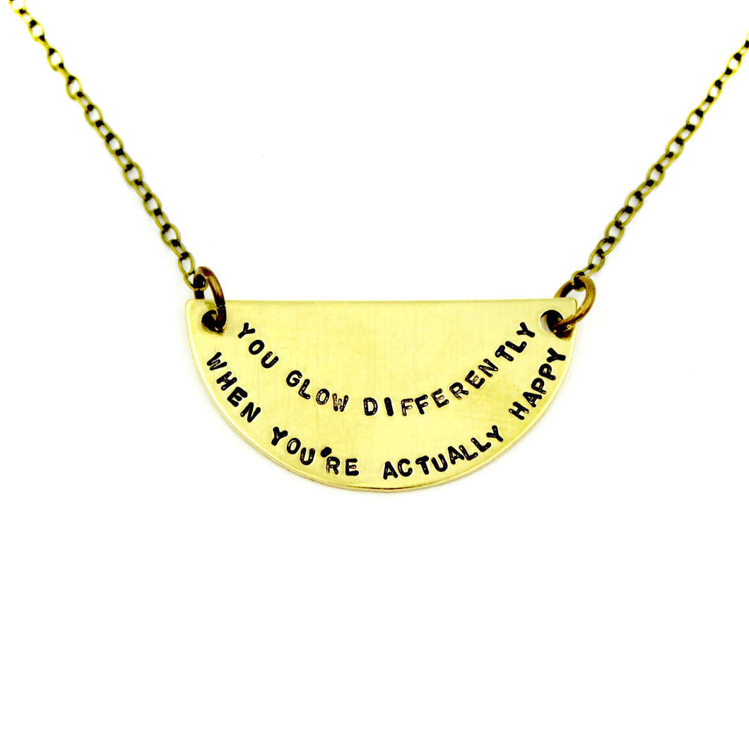 'You Glow Differently' Necklace