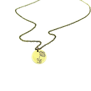 Cone Flower Necklace