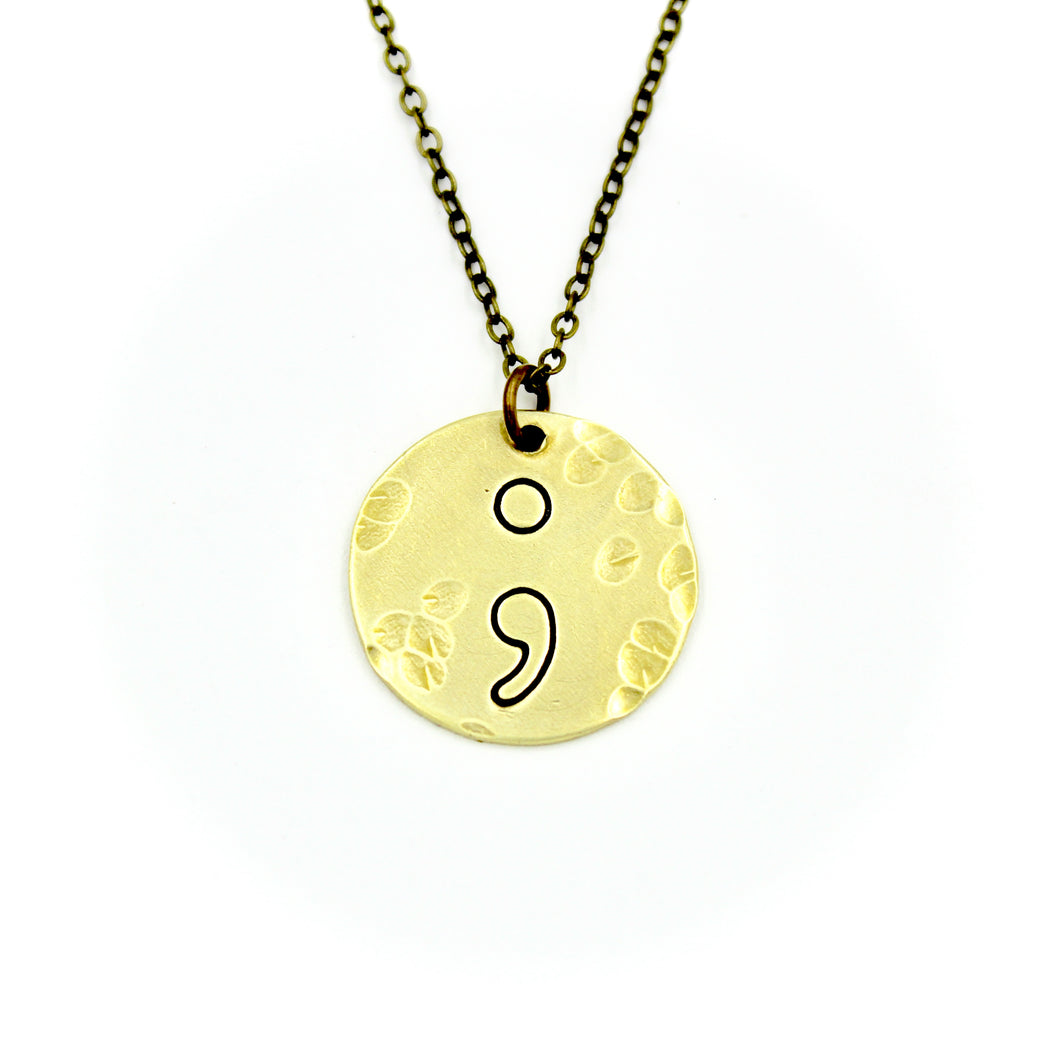 Semicolon Necklace