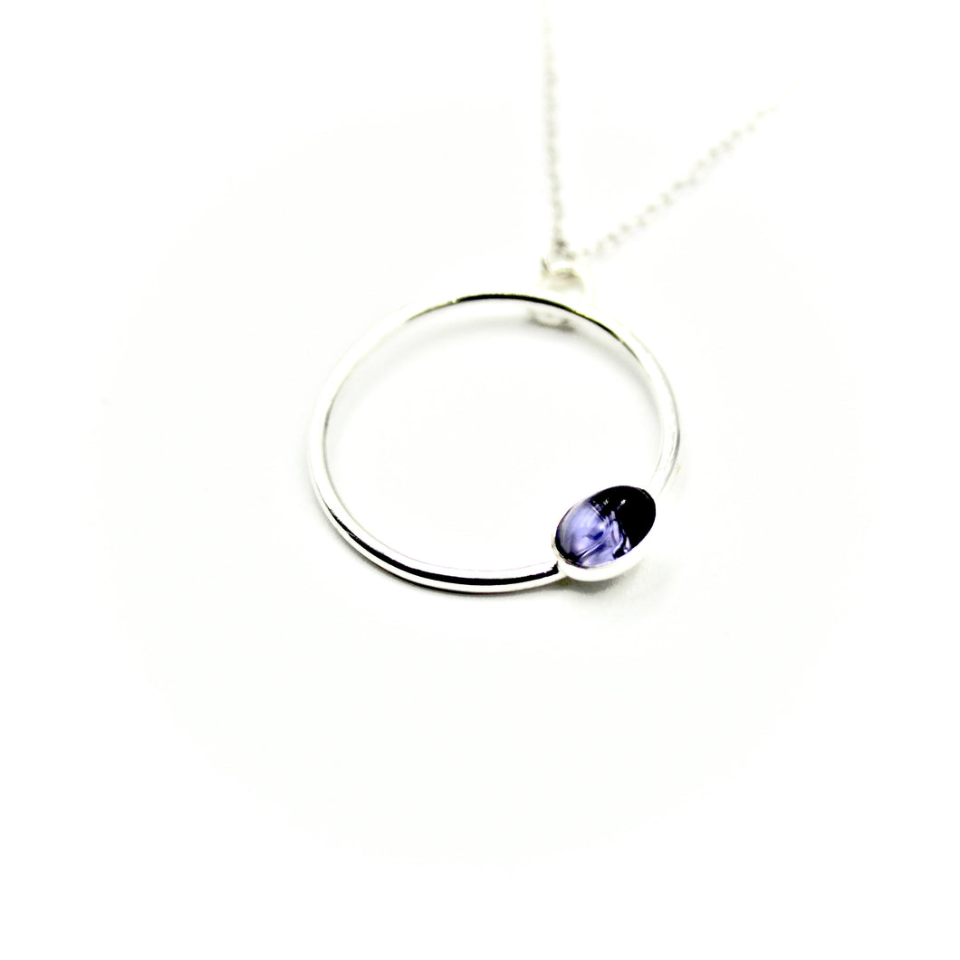Iolite Circle Necklace