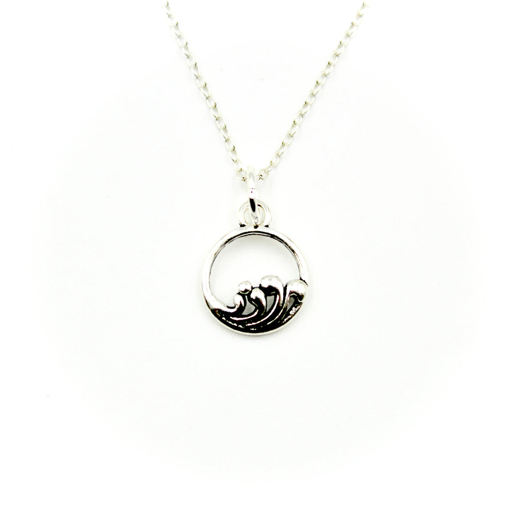 Wave Necklace - Sterling Silver