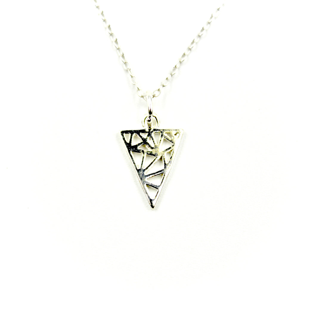 Webbed Triangle Necklace
