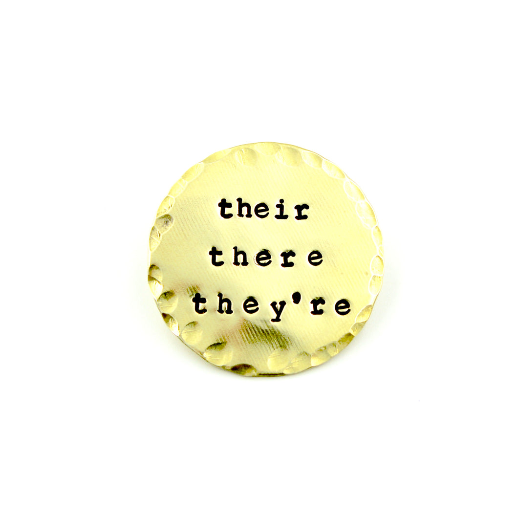 'Their, There, They're' Pin