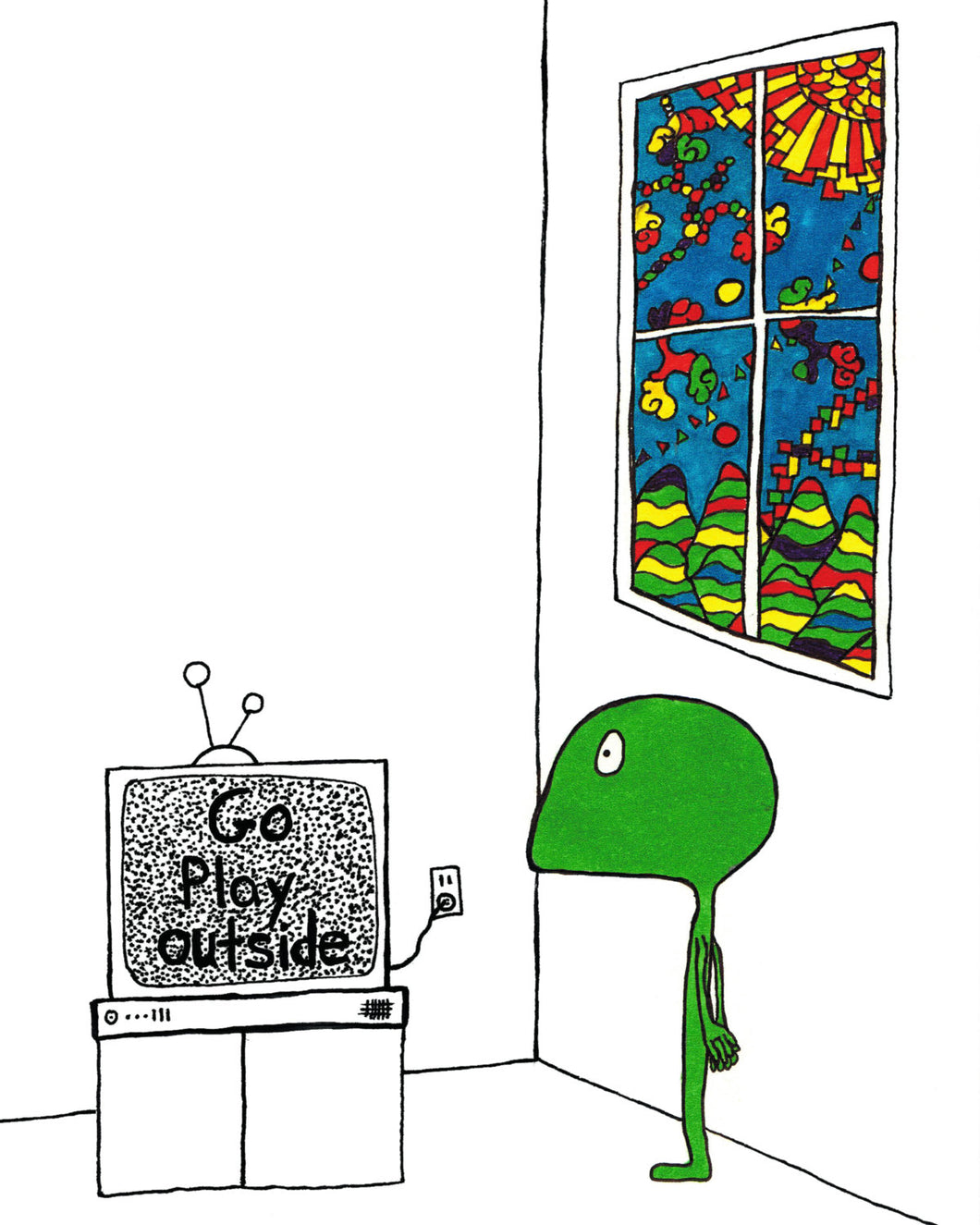 Someworld print - Go play outside