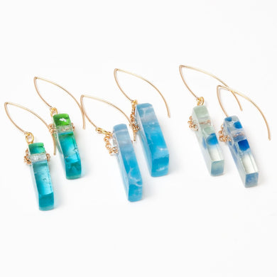 Mosaic Stiletto Gold Filled Earrings