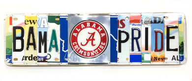 BAMA Pride License Plate Sign with Resin Finish