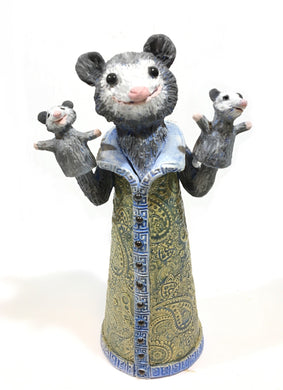 Possum with Possum Puppets Sculpture