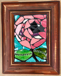 Pink Flower in Frame Mosaic
