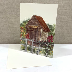 Garden Shed Watercolor Card