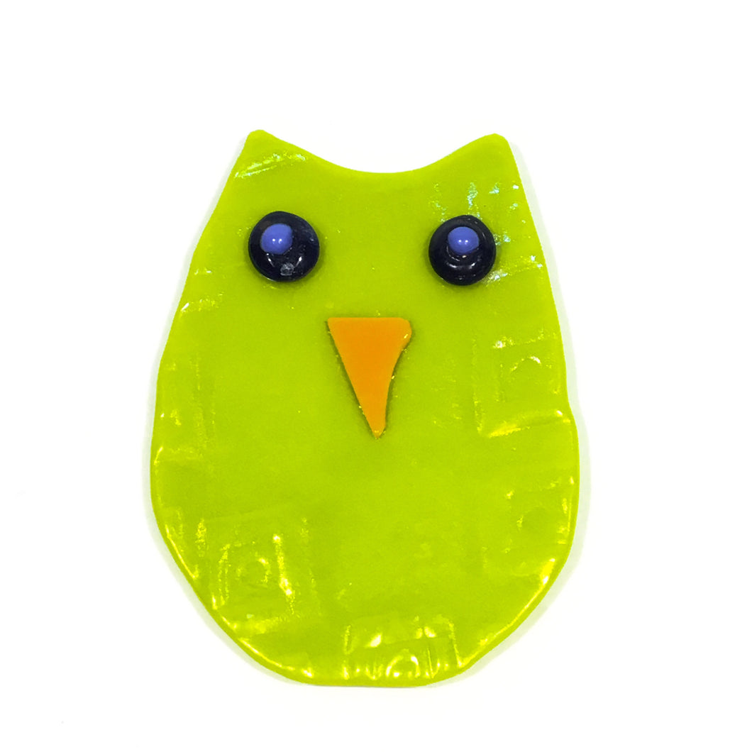 Glass Hanging Owl