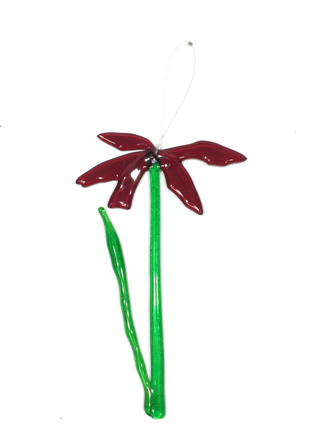 Single Stem Suncatcher Flower - Small Deep Red