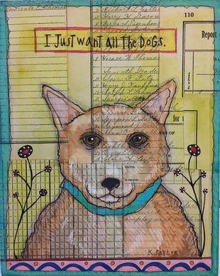 Envelope Art - All the Dogs