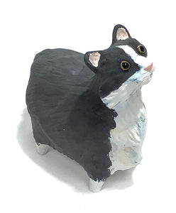 Black and White Ceramic Cat