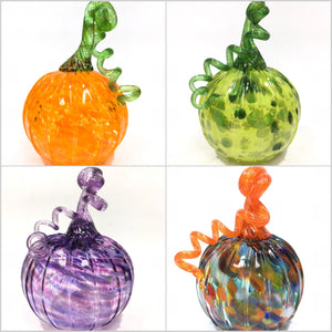 Blown Glass Pumpkin - size 3