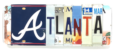 Atlanta License Plate Sign
