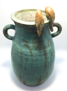 Bird Jug - large green