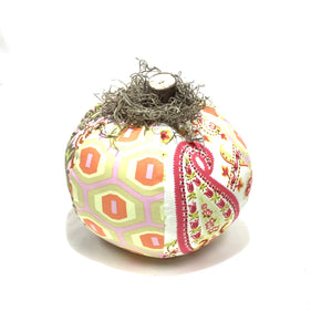 Mixed Fabric Pumpkins