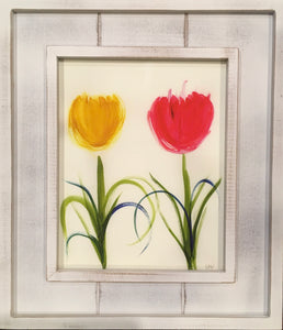 Two Tulips - framed print