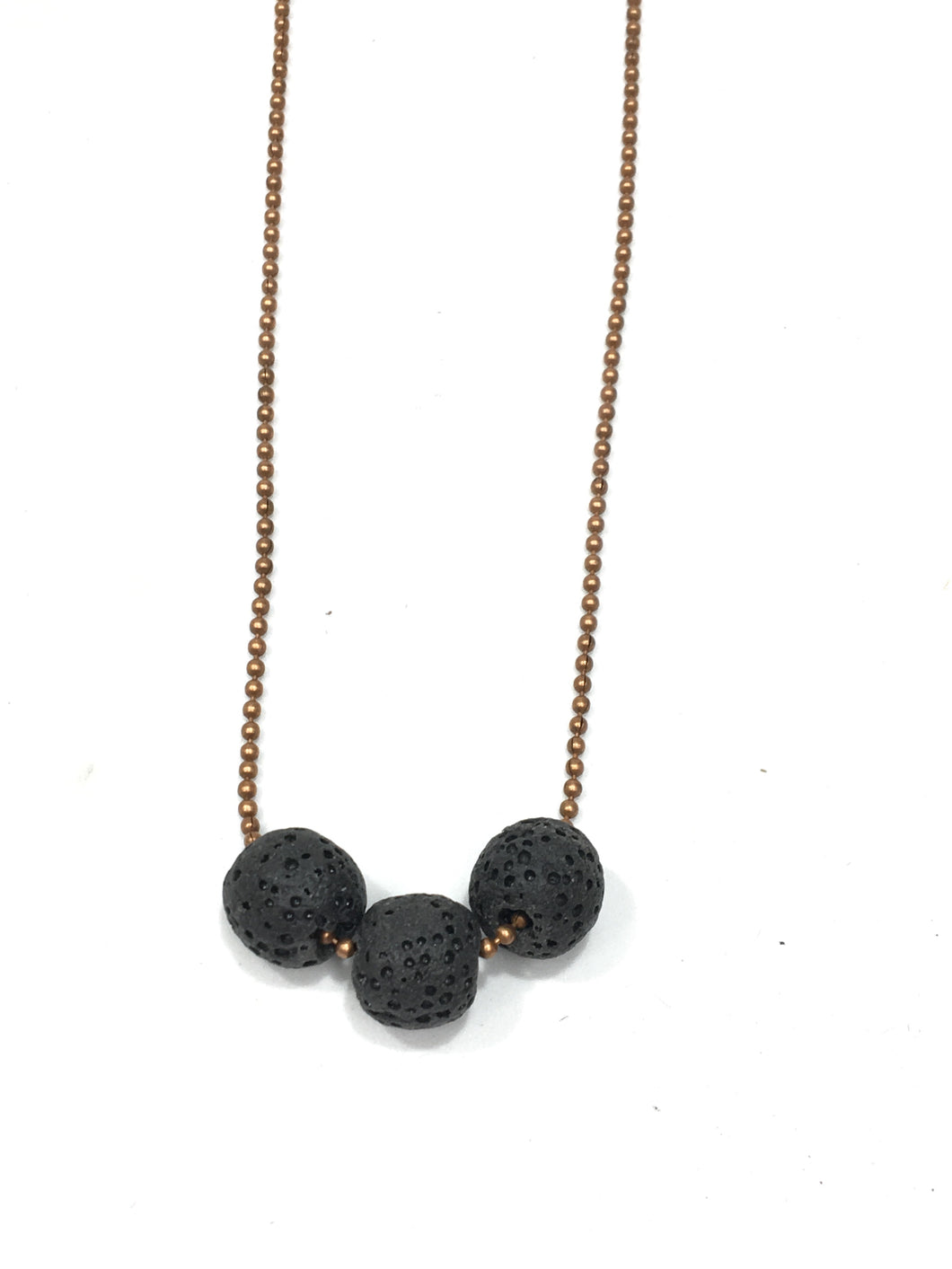 Lava Diffuser Necklace - 3 Beads