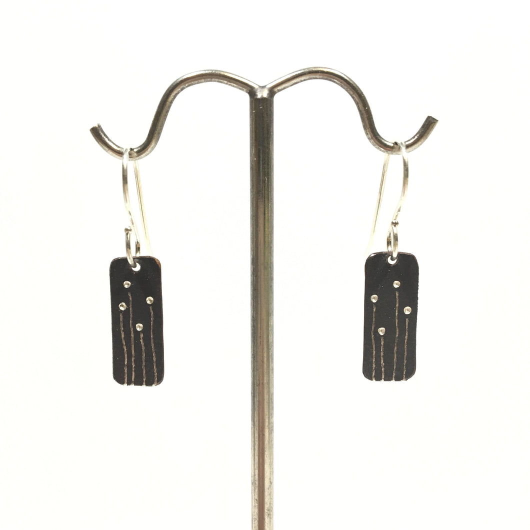 Oxidized Sterling Earrings - Oats