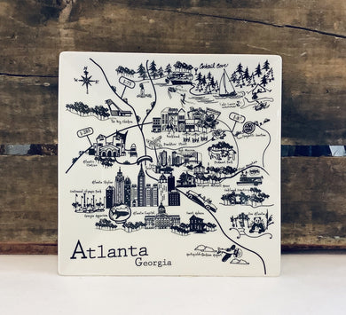 Atlanta Map- Large Plate