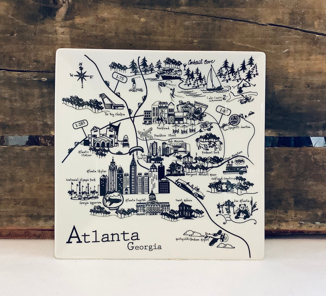 Atlanta Map Small Plate