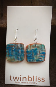 Earth & Sky Artisan Jewelry - Abstract Square Earring